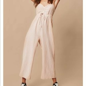 Oniell Linen Striped Jumpsuit